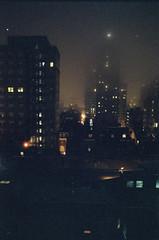 In a Dream, the Vertical City (Chris Giuliano) Tags: philadelphia philly pennsylvania film 35mm 35mmfilm filmisnotdead cinematic filmphotography canonae1 cinestill800t cinestill foggy moody dark fog city urban