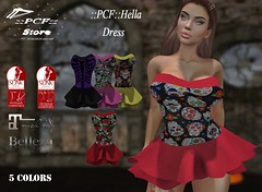 ::PCF:: Hella Dress (pcfstoresecondlife) Tags: women event release promo second secondlife sl store slink dress fitmesh female girl hud life virtual virtuallife virtualstore belleza new newrelease maitreya mesh
