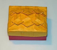 Diamond field box (mganans) Tags: origami tessellation