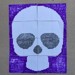 The Day of the Dead Yarn Bomb chart (crochetbug13) Tags: dayofthedead crochet crocheted crocheting crochetyarnbomb crochetflower largecrochetflower yarn dayofthedeadcrochetchart