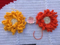 Detail of the cut out between two of the very large flowers (crochetbug13) Tags: dayofthedead crochet crocheted crocheting crochetyarnbomb crochetflower largecrochetflower yarn dayofthedeadcrochetchart