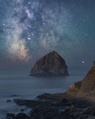 Milky Way over Haystack (sbadger91) Tags: milkyway haystack pacificcity tamron45mm18 nikond850 longexposure nightscape ocean startracker sifo oregoncoast sbadger91 stephenbadger sbadgerphoto