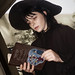 Lydia Deetz with the Handbook for the Recently Deceased