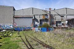 end of the line (eb78) Tags: ca california eastbay urbanexploration urbex ue abandoned decay warehouse ghostrails railroad traintracks