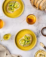 Mutabal and Cucumber Open Sandwich 2 (omer.arahman) Tags: sandwich eggplant vegeterian vegetables yummy food foodphotos photography chili salt oil olive bread flatlay