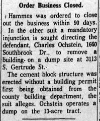 1960 - Ochstein orderd to remove bldg - South Bend Tribune - 4 Feb 1960