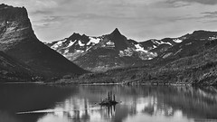 Kayak and the Island (Valley Imagery) Tags: st mary lake wild goose island glacier national park kayak mono morning paddle montana viewpoint sony a99ii 70400gii
