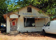 Abandoned Magnolia Cafe - Lovelady, Texas (Rob Sneed) Tags: usa texas lovelady magnoliacafe abandoned sign smalltown easttexas statehighway19 houstoncounty cafe restaurant facade