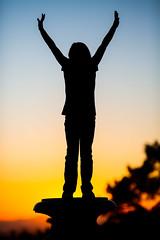 As the Sun Set on Oakland (Thomas Hawk) Tags: america bayarea california eastbay holly hollypeterson mountainviewcemetery oakland sfbayarea usa unitedstates unitedstatesofamerica westcoast cemetery norcal silhouette sunset