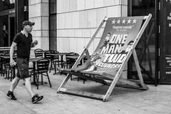 Deckchair, Southampton (gwpics) Tags: man england people size mono streetphotography southampton giant uk english editorial everydaylife hampshire hants lifestyle male men monochrome person society unitedkingdom blackandwhite streetlife