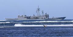 HMAS Melbourne departs (Daffy Wallace) Tags: hmas melbourne hmasmelbourne ffg ran navy frigate