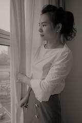 Just a perfect day (chinese johnny) Tags: bw blackandwhite beautiful beauty beautifulgirl beijing ambient canon7d chinese china chinadoll chinesegirl chinagirl cinematic chaoyang desaturated emotive intimate lyrics lovely longing location monochrome moody melancholy photoshoot portraitsession urbanchina woman window shuangqiao loureed