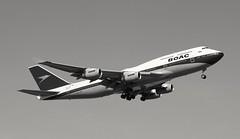 G-BYGC Boeing 747-436 British Airways BOAC retro livery (R.K.C. Photography) Tags: gbygc boeing 747436 b747 britishairways boac ba baw speedbird retro ba100 london england unitedkingdom uk cainslane 09r londonheathrowairport lhr egll canoneos750d