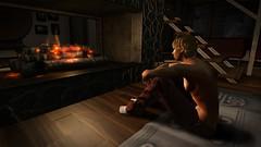 The coming fall (Andrej Paulik) Tags: aj azúcar fire fireplace home fall autumn pajamas socks astaria thought thinking lost