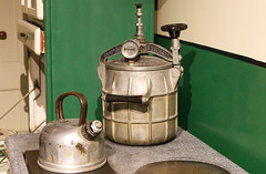 Our Daily Topic - Still Life (alisonhalliday) Tags: kitchen 1950s pressurecooker kettle kitchenequipment york exhibit canoneos77d canonefs18135mm yorkcastlemuseum