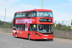 LJ19 CUO (BDE2621) Metroline London (hotspur_star) Tags: londontransport londonbuses londonbus londonbuses2019 alexanderdennisltd enviro400 electricbus tfl transportforlondon busscene2019 doubledeck metrolinelondon lj19cuo 43 bde2621