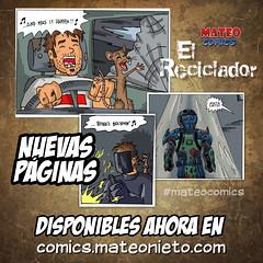 El Reciclador - Nuevas páginas (7, 8 y 9) (mateoluzardo) Tags: iron man reciclador what feeling comic web colombiano calles ratas ratón amistad armadura marvel