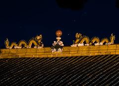 hong kong east ocean (pbo31) Tags: bayarea eastbay alamedacounty night dark black color nikon d810 september 2019 boury pbo31 emeryville roof orange dragons art sculpture chinese