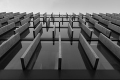 Looking Up (Blueocean64) Tags: bw architecture perspective warsaw samyang poland light summer blackandwhite monochrome noiretblanc outdoor panasonic g5 12mm 旅游 extérieur 欧洲 艺术 美丽 摄影 blueocean64 day minimalist