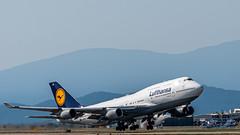 Boeing 747-400 of Lufthansa Pulling Up From YVR (AvgeekJoe) Tags: 100400mmf563 747 747400 boeing747 boeing747400 britishcolumbia cyvr canada dabvs d7500 dslr importedkeywordtags lufthansa nikon nikond7500 seaisland sigma sigma100400mmf563 sigma100400mmf563dgoshsmcontemporary vancouver vancouverinternational vancouverinternationalairport yvr aircraft airplane airport aviation jet jetliner plane telephotolens