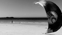 Black sail (patrick_milan) Tags: saint pabu black sail beach sand water sea bretagne finistere mer voile kit surf