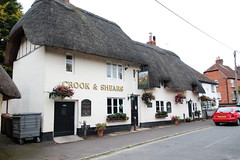 The Crook and Shears Upper Clatford Hampshire UK (davidseall) Tags: the crook shears pub pubs inn tavern bar public house houses upper clatford hampshire uk gb british english village country thatched thatch