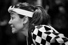 complex intensity (gro57074@bigpond.net.au) Tags: clickx complexintensity multicultural chequered monochromatic monotone monochrome mono bw blackwhite matsuri sydney chatswood f28 70200mmf28 nikkor d850 nikon japanesefestival september2019 chatswoodfestival chatswoodmatsuri guyclift profile japanese woman portrait candid