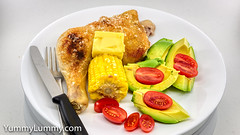 MEATER™ chicken, corn, avocado, and tomato (garydlum) Tags: avocado butter chicken corn tomatoes canberra australiancapitalterritory australia