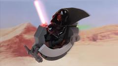 Darth Maul Bloodfin Speeder - updated build! (2bricks_official) Tags: darth maul star wars speeder bike bloodfin episode 1 phantom menace lego moc instructions minifigure scale