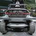 Heckansicht des Audi AI: Trail Quattro, elektrischer Geländewagen Off-Track,  in futuristischem Design