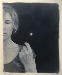 This little light of mine... (l'imagerie poétique) Tags: letitshine healing hope originalart alternativeprocess handmadeprint tonedcyanotype cyanotype