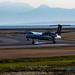 A Q400 Lands at YVR on One Side