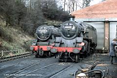 02/02/1985 - Grosmont (NYMR), North Yorkshire. (53A Models) Tags: northyorkshiremoorsrailway nymr stanier lms class5 black5 5mt 460 45428 britishrailways standard 4mt 264t 80135 preserved steam grosmont northyorkshire train railway locomotive railroad