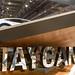 Taycan Schriftzug auf der Autoaustellung IAA, zur Präsentation des neuen Elektro-Sportswagen Taycan Turbo S von Porsche