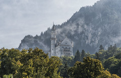 Castle in the sky (mystero233) Tags: neuschwanstein castle schloss neuschwansteincastle germany alps mountains building historical history nature outdoor landscape view europe nikon tower fog mist clouds autumn bavaria