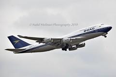"British Airways G-BYGC Boeing 747-436 cn/25823-1195 Painted in ""BOAC (1964-1974) retro"" special colours 02-2019 @ EGLL / LHR 17-05-2019 (Nabil Molinari Photography) Tags: british airways gbygc boeing 747436 cn258231195 painted boac19641974retro special colours 022019 egll lhr 17052019"