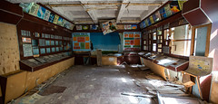 Control room at the Duga Radar Complex - 11/09/2019 (kevaruka) Tags: chernobyl exclusion zone 911 pripyat dodgems bumper cars bw nuclear disaster urban photography black white ga mask canon eos 5d mk3 ef 1635 f28 mk2 wide angle uwa ultra ukraine 5d3 5diii doll gas dof depth people photoadd television flickr front page kevin frost composition colour colours color colors contrast school september 2019 11092019 indoor kiev ferris wheel fair amusement park fun tram corridor sun sunshine sunny day duga radar
