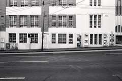 Facade (OzGFK) Tags: fm2n ilford kentmere kentmerepan400 nikon pan400 analog blackandwhite bw contrast film monochrome redfilter