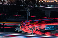 market street san pablo ave. exit (pbo31) Tags: bayarea eastbay alamedacounty night dark black color nikon d810 september 2019 boury pbo31 oakland lightstream motion traffic roadway red 24 ramp exit over