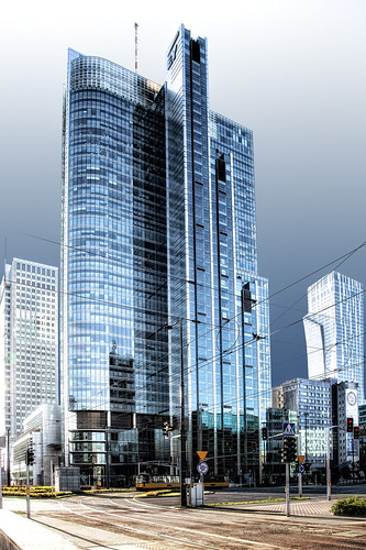 Rondo 1 - office skyscraper with a total height of 192 m located in Warsaw, Poland.