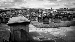 Whitby . (wayman2011) Tags: colinhart fujifilmxe2s lightroom5 wayman2011 7artisans25mmf18 bwlandscapes mono coast graveyards gravestones northyorkshire whitby uk