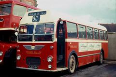 Thames Valley Traction Co . 853 VJB944 . Reading Garage , Berkshire . 26th-May-1969 . (AndrewHA's) Tags: berkshire reading bus thames valley traction company bristol mw ecw dualpurpose 853 vjb944