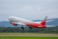 Rossiya Airlines Boeing 777-300 EI-UNL at Vladivostok International Airport (Andrei Efimkin) Tags: 773 777300 777312 b773 b777 boeing eiunl rossiyaairlines sochi takeoff uhww vvo vladivostok vladivostokinternationalairport взлет сочи