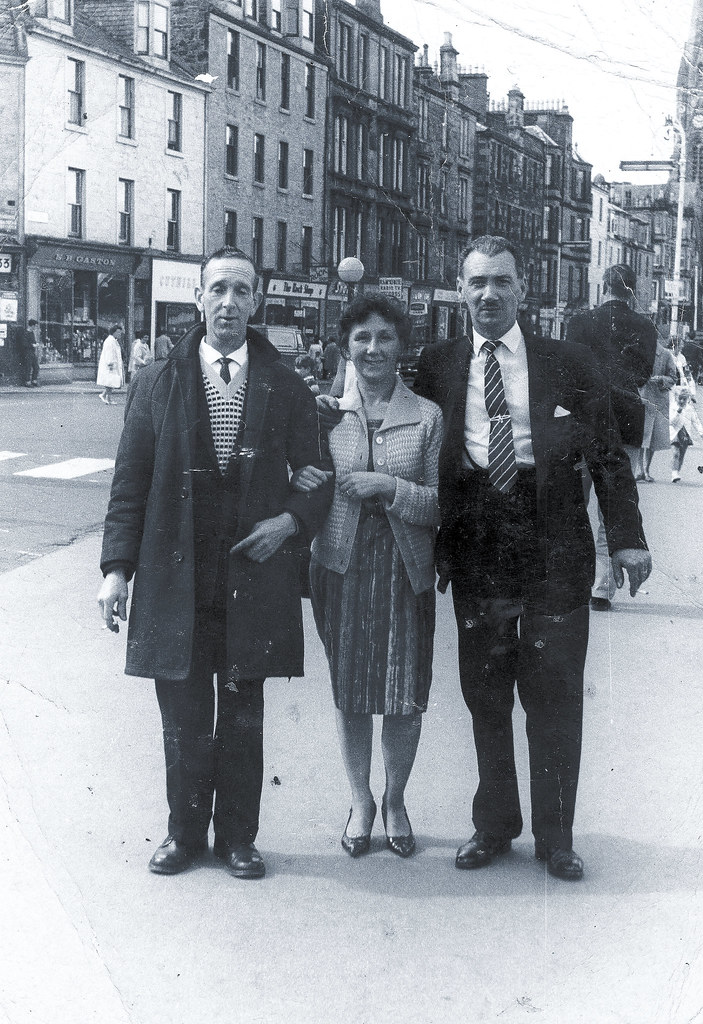 Mary Adam with Bobby and Andrew Adam 1960s