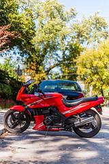 Kawasaki sports bike (Uta_kv) Tags: beautifulwoman canon5d canon5dclassic teamcanon toronto beautifulday kawasaki ninja motorcycle redbike sportsbikes
