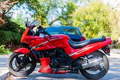 Ninja (Uta_kv) Tags: beautifulwoman canon5d canon5dclassic teamcanon toronto beautifulday kawasaki ninja motorcycle redbike sportsbikes