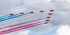 September 17, 2019 - The RAF Red Arrows in formation over Broomfield. (Tony's Takes)