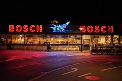 Bosch Building (WayneG58) Tags: street fujixt2 fuji handheld meatpackingdistrict boschbuilding neon night denmark copenhagen