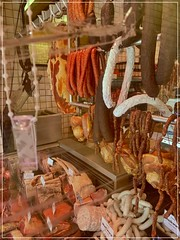Viktualienmarkt (FotoFling Scotland) Tags: germany meat munich sausage viktualienmarkt