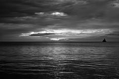 morning on lake michigan (imaginethis55) Tags: stevenbauerphotography stevenbauerphotographer bnwphotography blackandwhite lakemichigan cloudporn sunrise imaginethis55